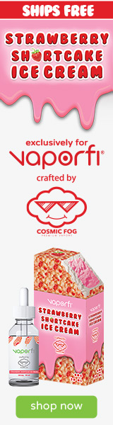 Crafted By Cosmic Fog for VaporFi Strawberry Shortcake Vape Juice Shop Now