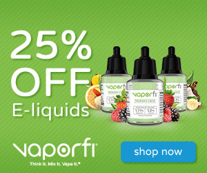 25% off vaporfi e-liquids shop now