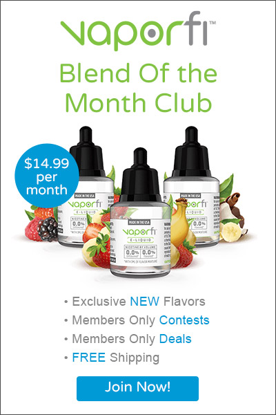 VaporFi E-Liquid Blend Of The Month Club